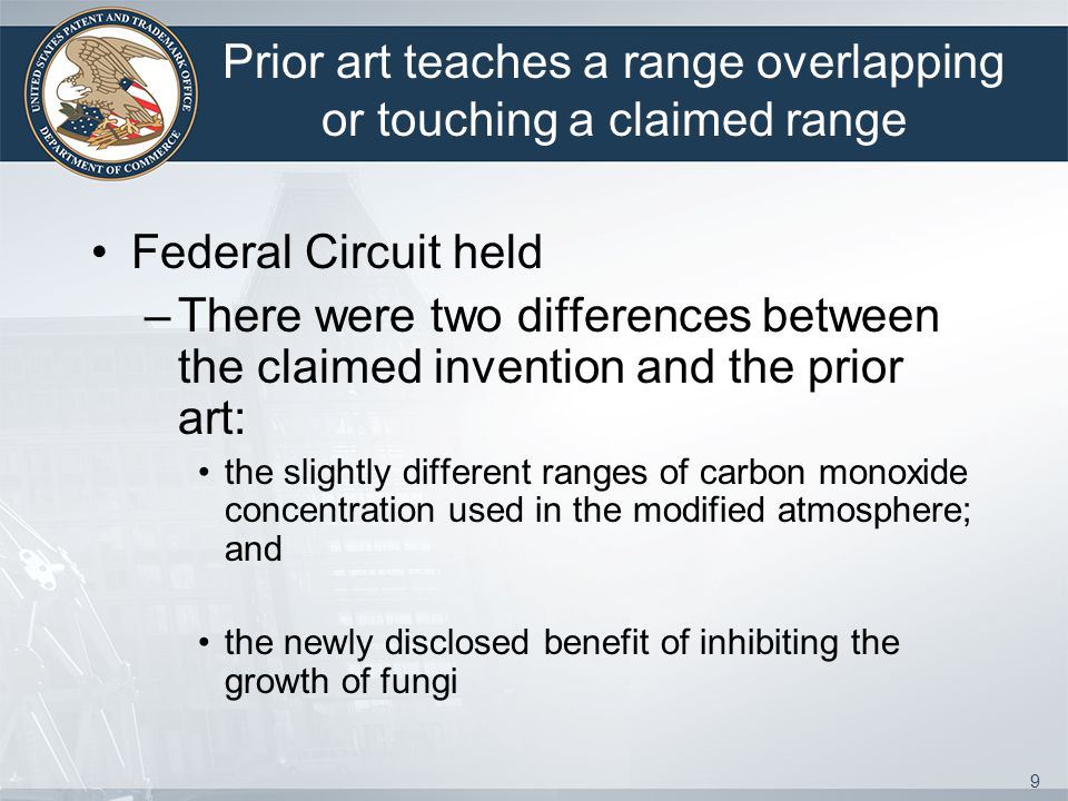Prior art teaches a range overlapping or touching a claimed range