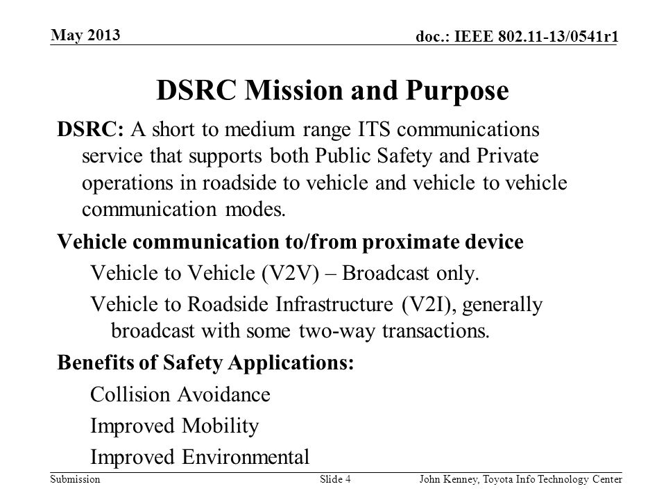 DSRC Mission and Purpose
