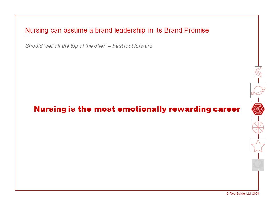 Nursing is the most emotionally rewarding career