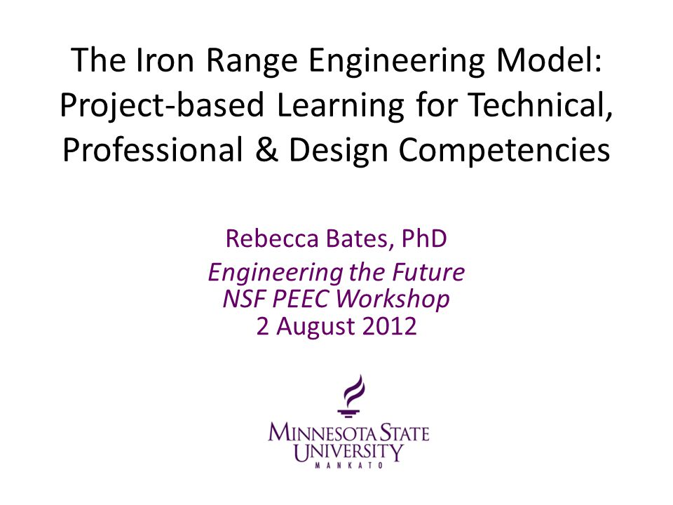 Engineering the Future NSF PEEC Workshop 2 August 2012