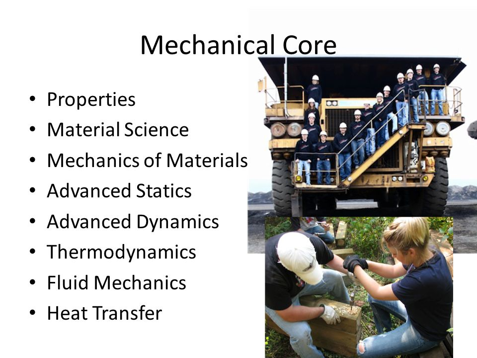 Mechanical Core Properties Material Science Mechanics of Materials