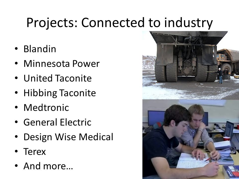 Projects: Connected to industry