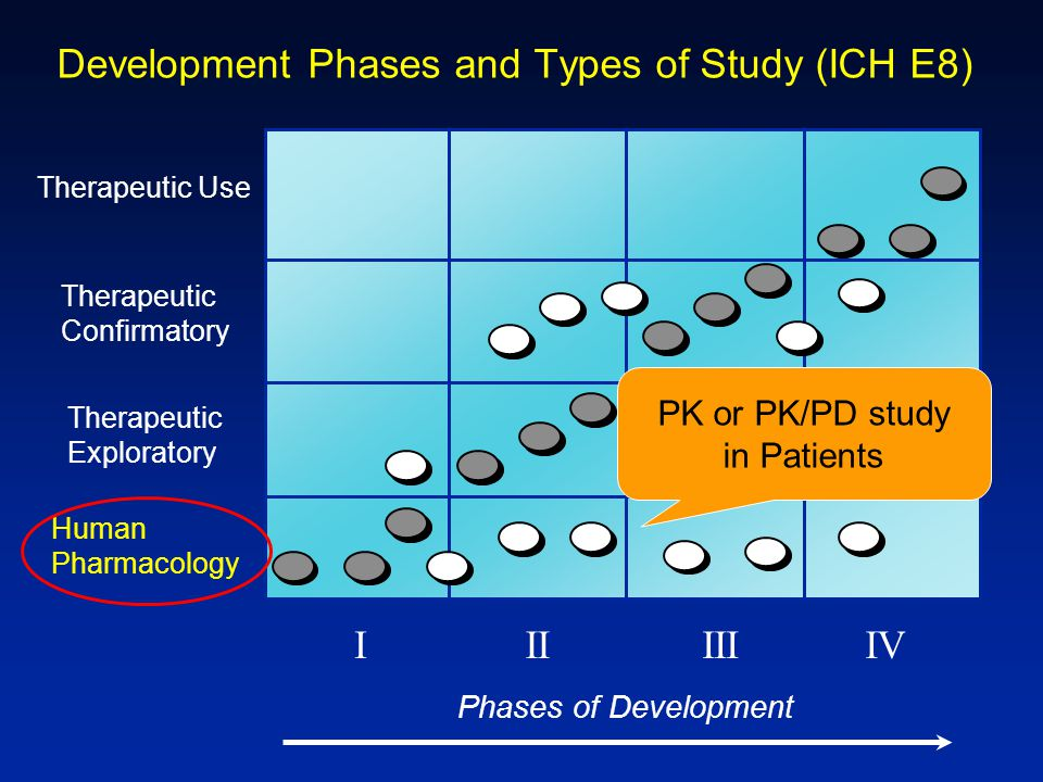 Development Phases and Types of Study (ICH E8)