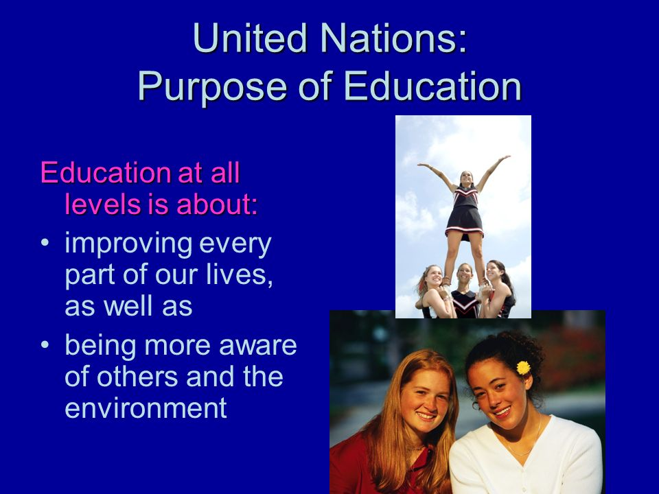 United Nations: Purpose of Education