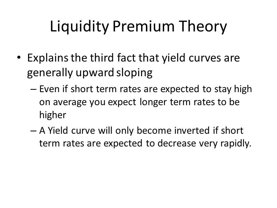 Liquidity Premium Theory