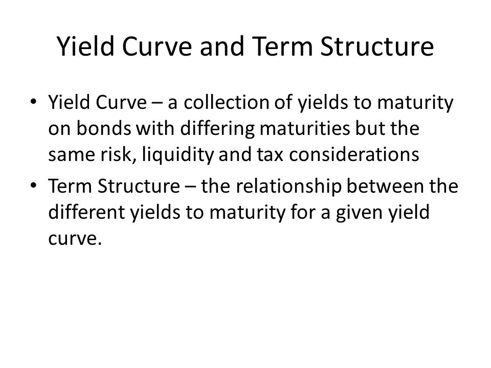 Yield Curve and Term Structure