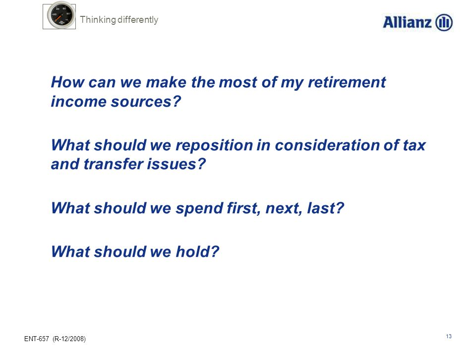 How can we make the most of my retirement income sources