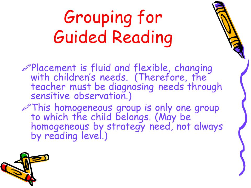 Grouping for Guided Reading