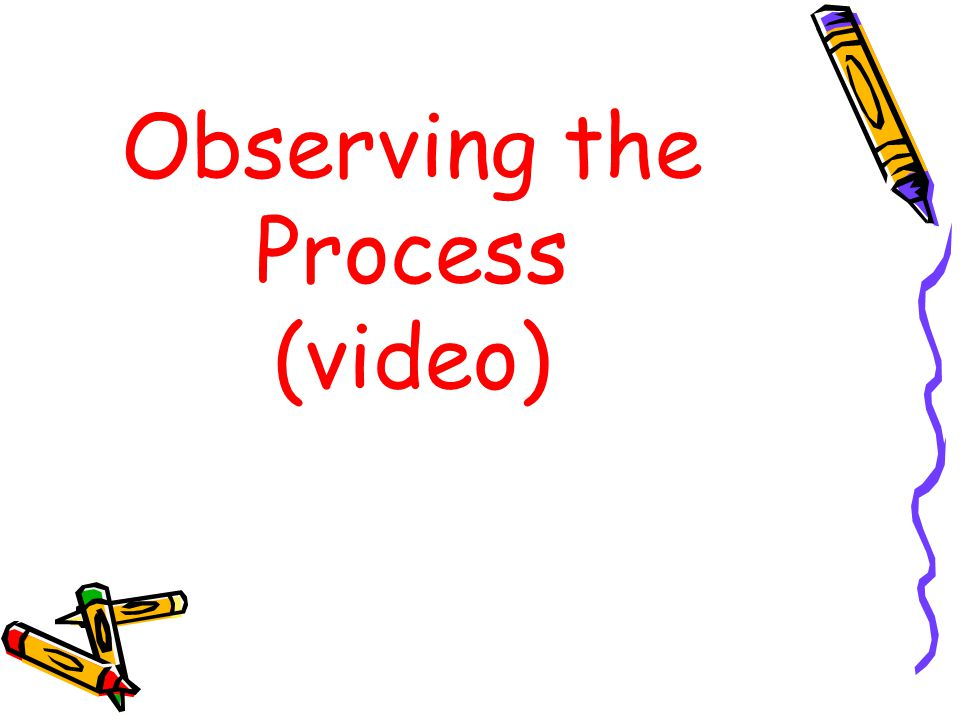 Observing the Process (video)