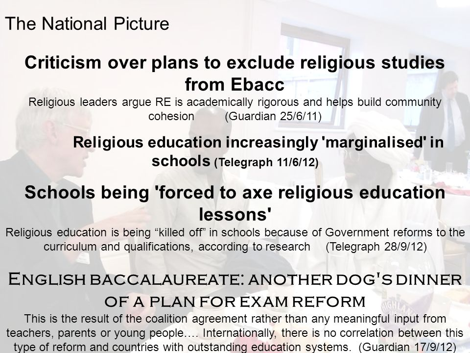 Criticism over plans to exclude religious studies from Ebacc