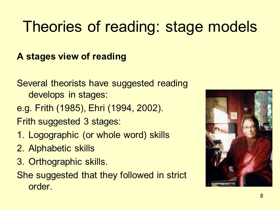 Theories of reading: stage models