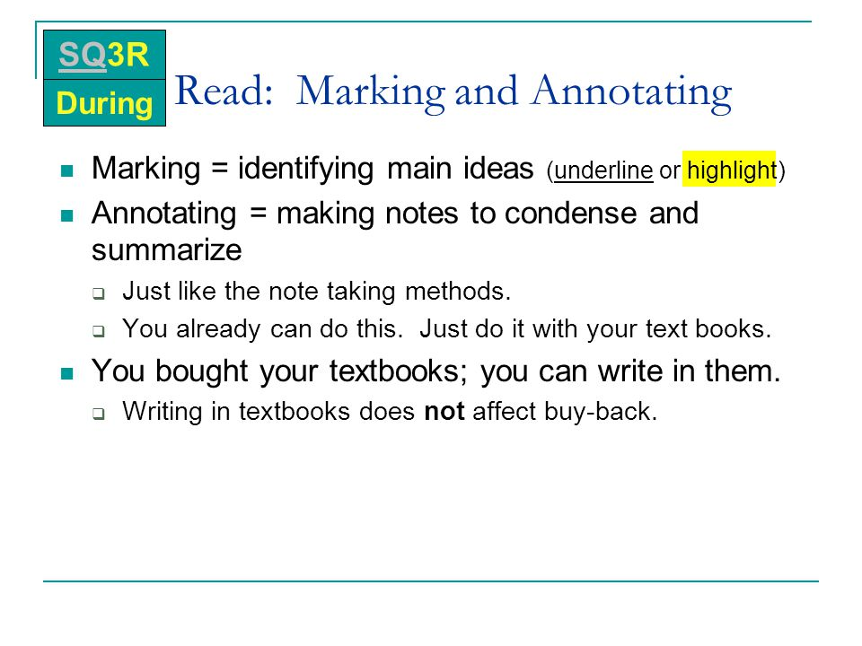 Read: Marking and Annotating