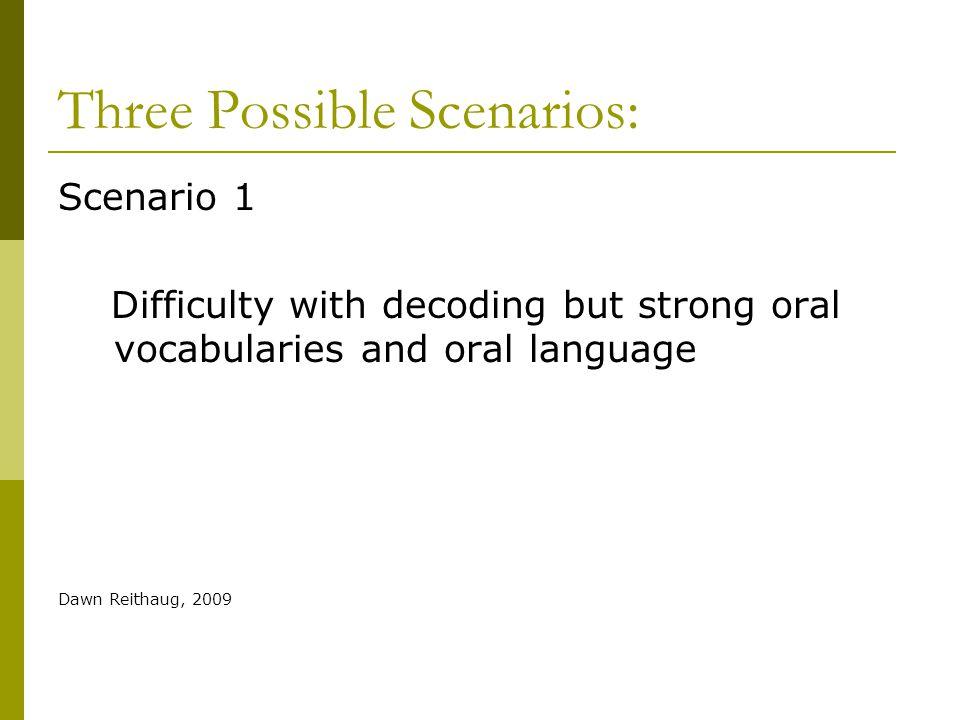 Three Possible Scenarios: