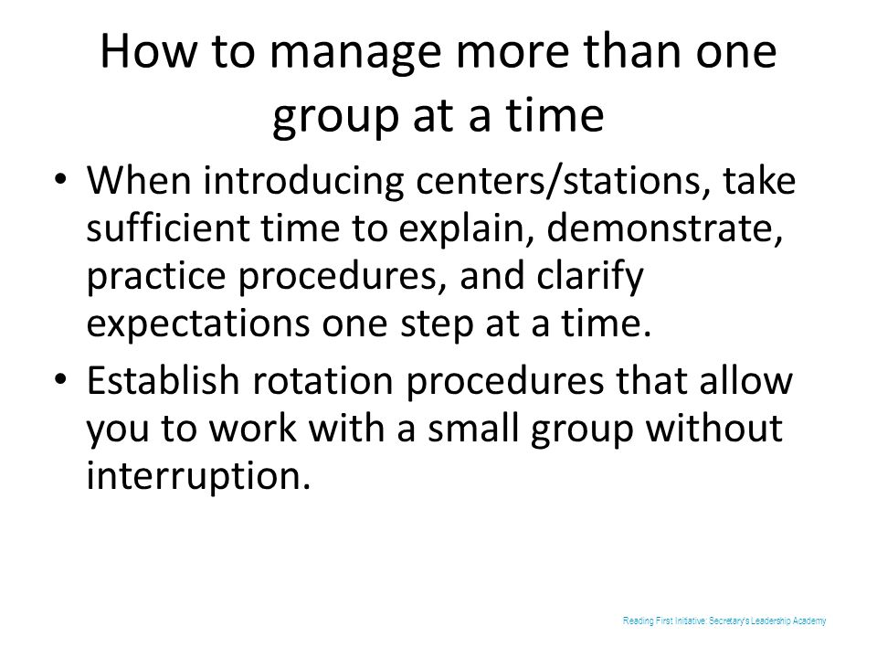 How to manage more than one group at a time