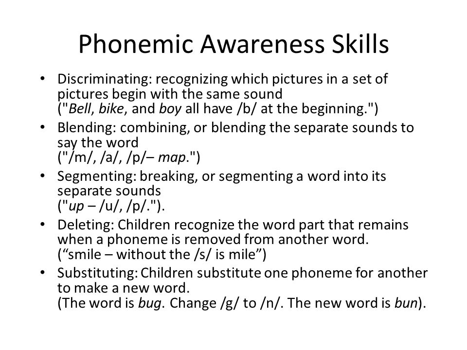 Phonemic Awareness Skills