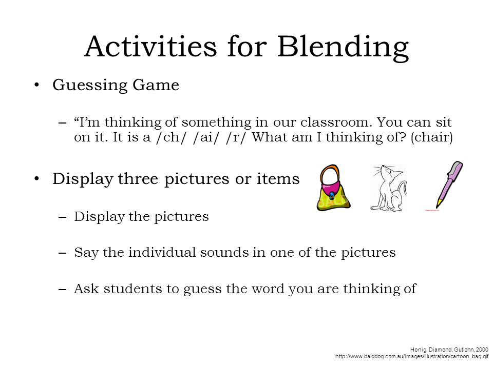Activities for Blending