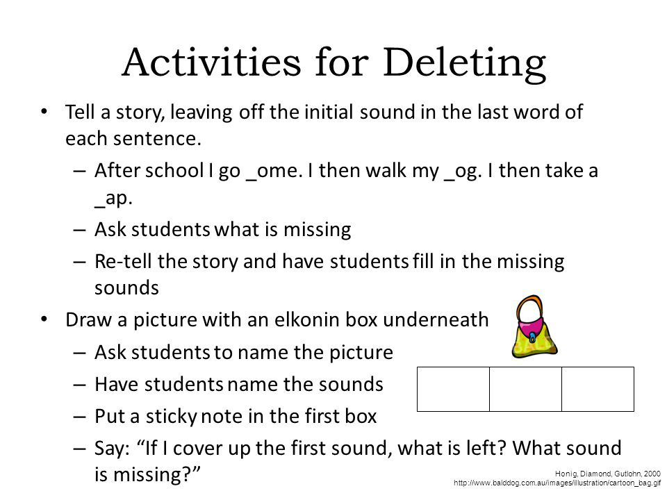 Activities for Deleting