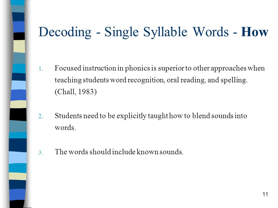 Decoding - Single Syllable Words - How