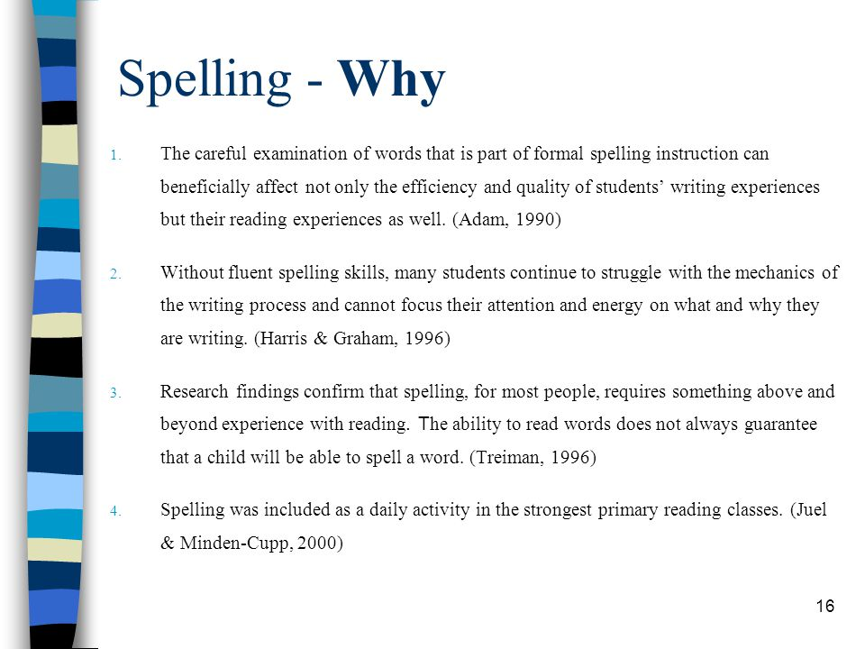 Spelling - Why