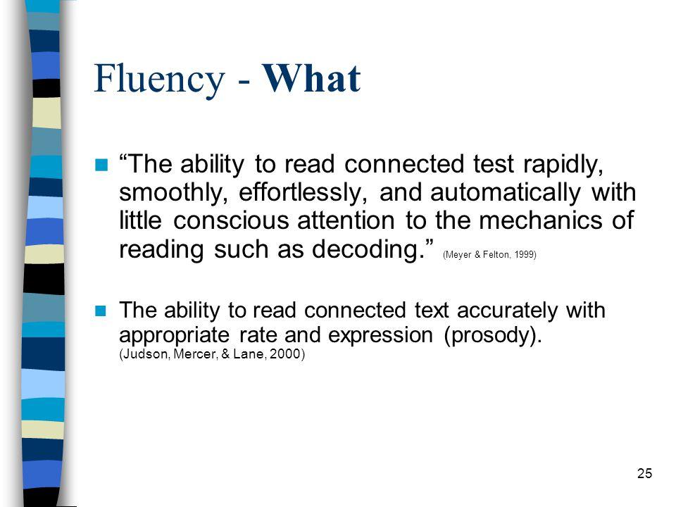 Fluency - What