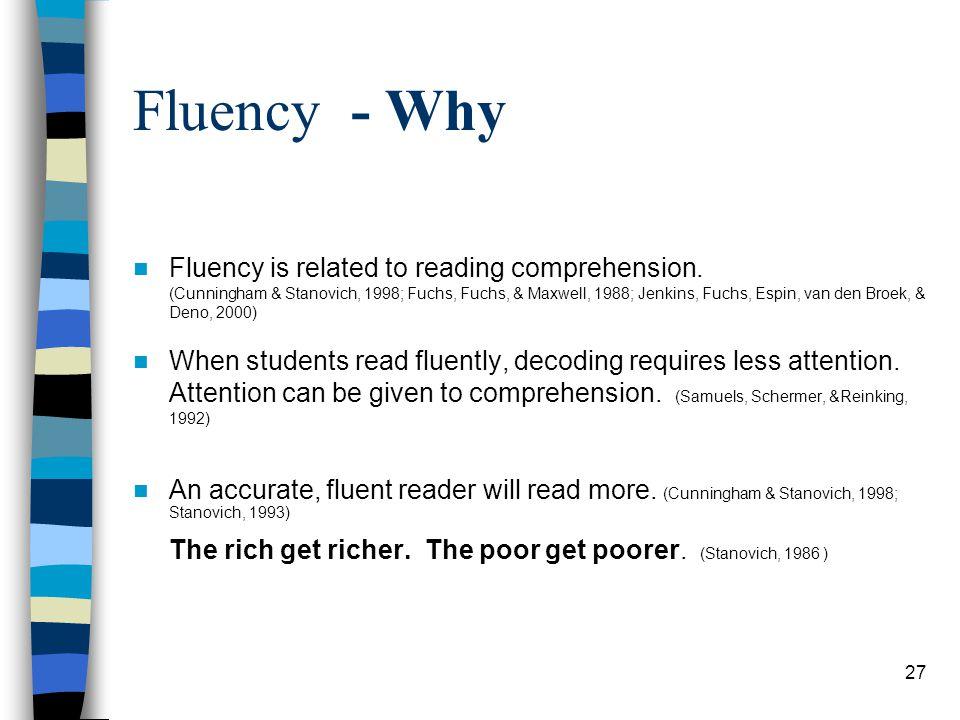 Fluency - Why