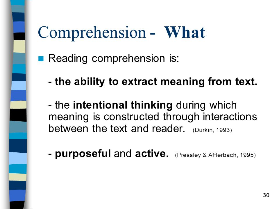 Comprehension - What