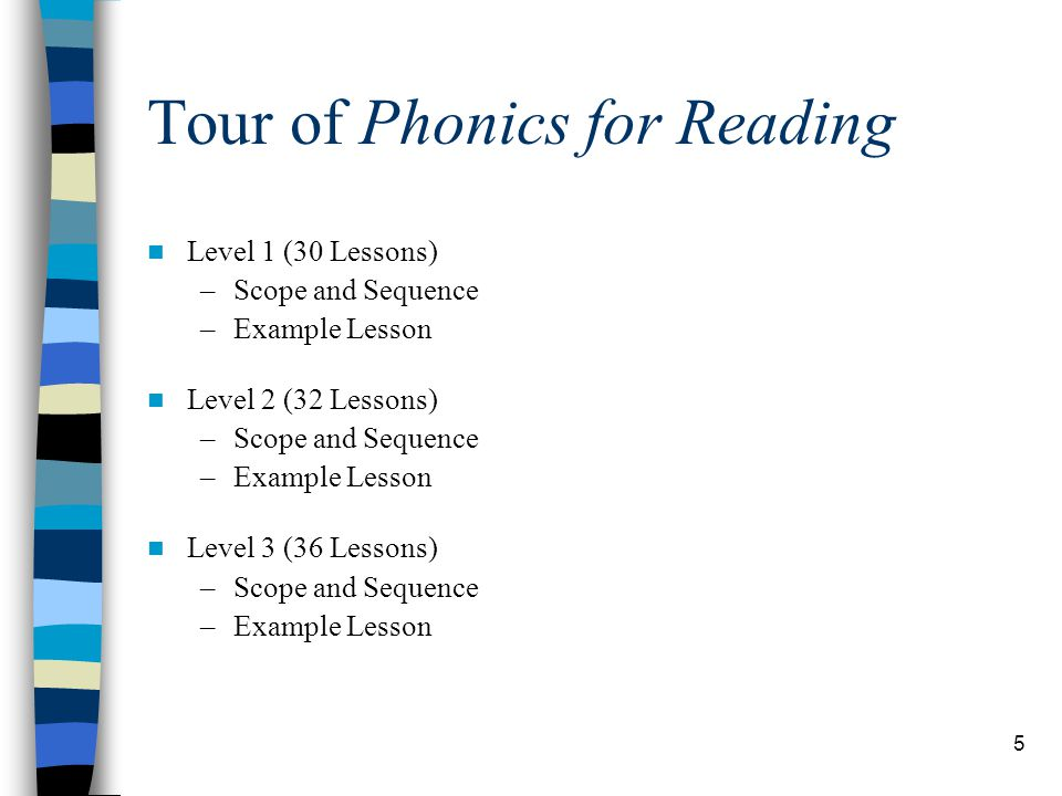 Tour of Phonics for Reading