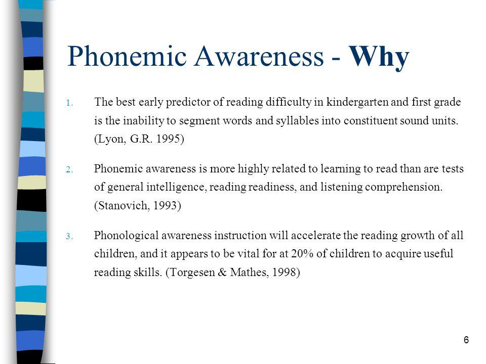 Phonemic Awareness - Why