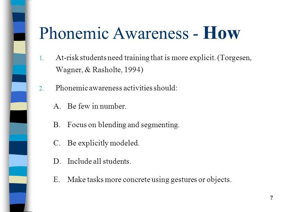 Phonemic Awareness - How