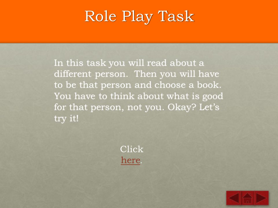 Role Play Task
