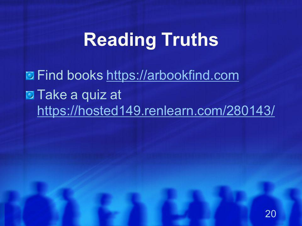 Reading Truths Find books https://arbookfind.com