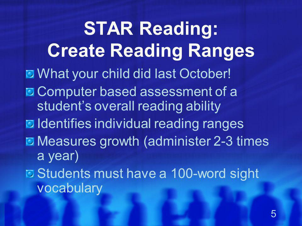 STAR Reading: Create Reading Ranges