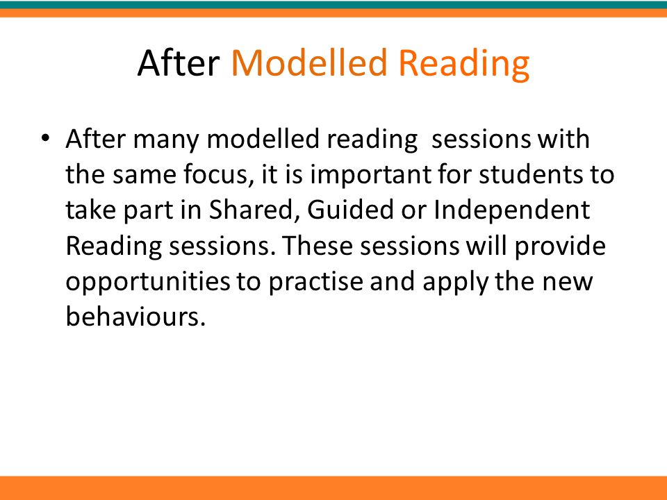 After Modelled Reading