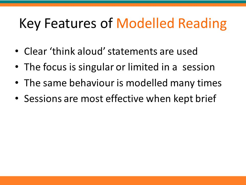 Key Features of Modelled Reading
