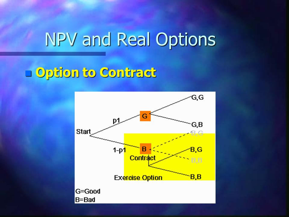 NPV and Real Options Option to Contract