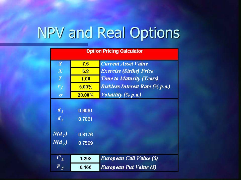 NPV and Real Options