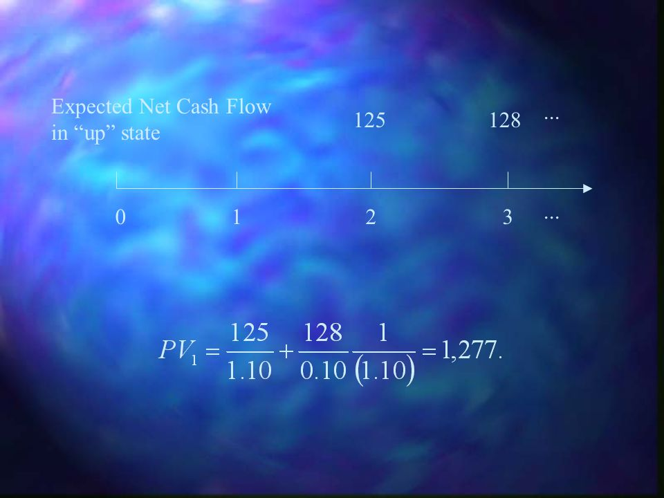 Expected Net Cash Flow in up state ... 125 128 ... 1 2 3