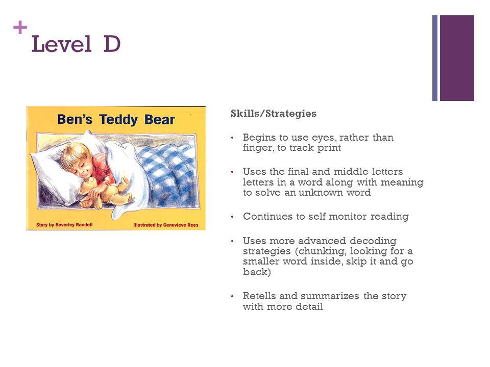 Level D Skills/Strategies