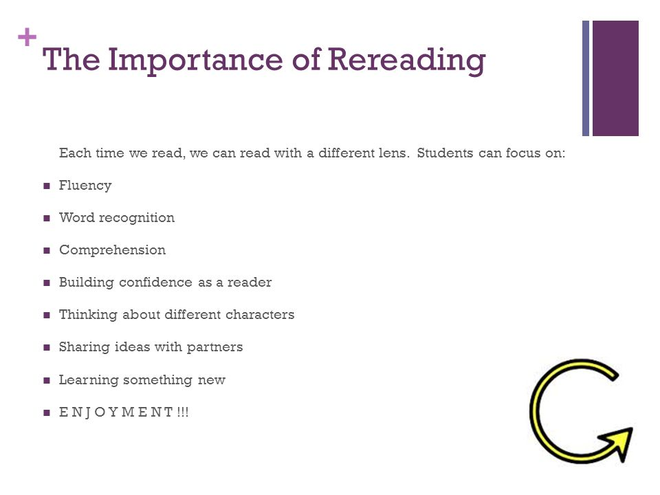 The Importance of Rereading