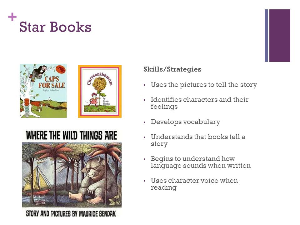 Star Books Skills/Strategies Uses the pictures to tell the story