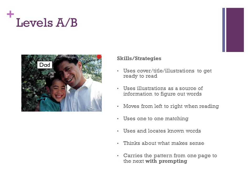 Levels A/B Skills/Strategies