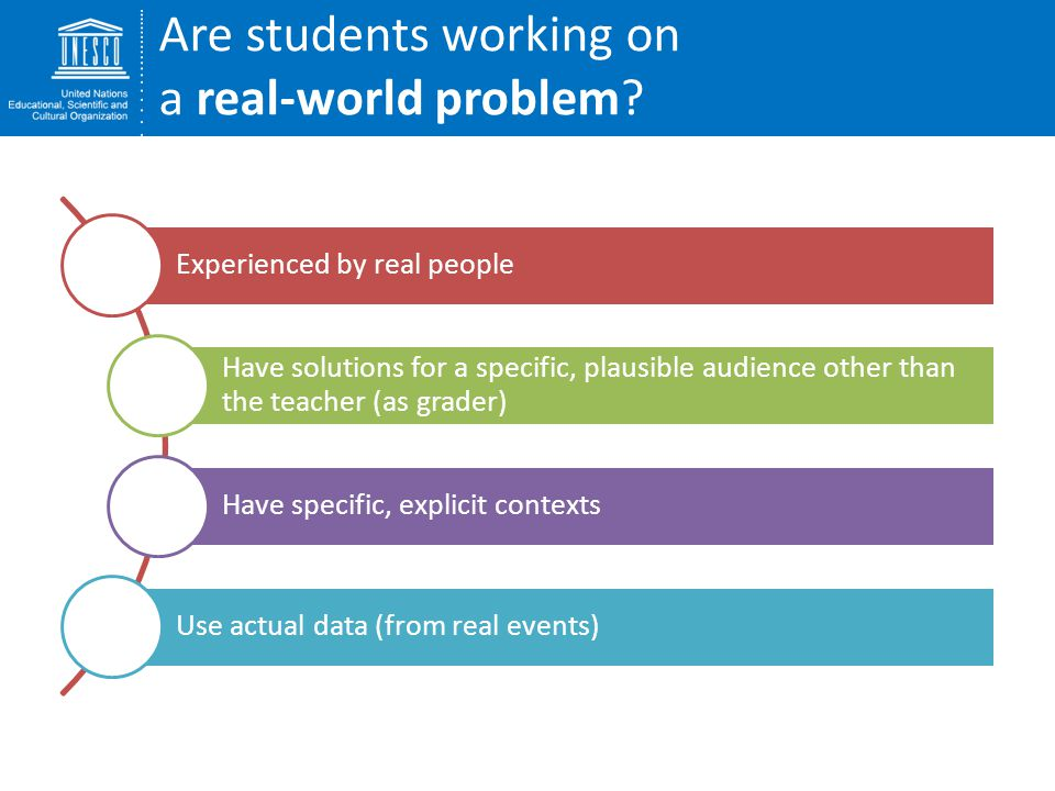 Are students working on a real-world problem