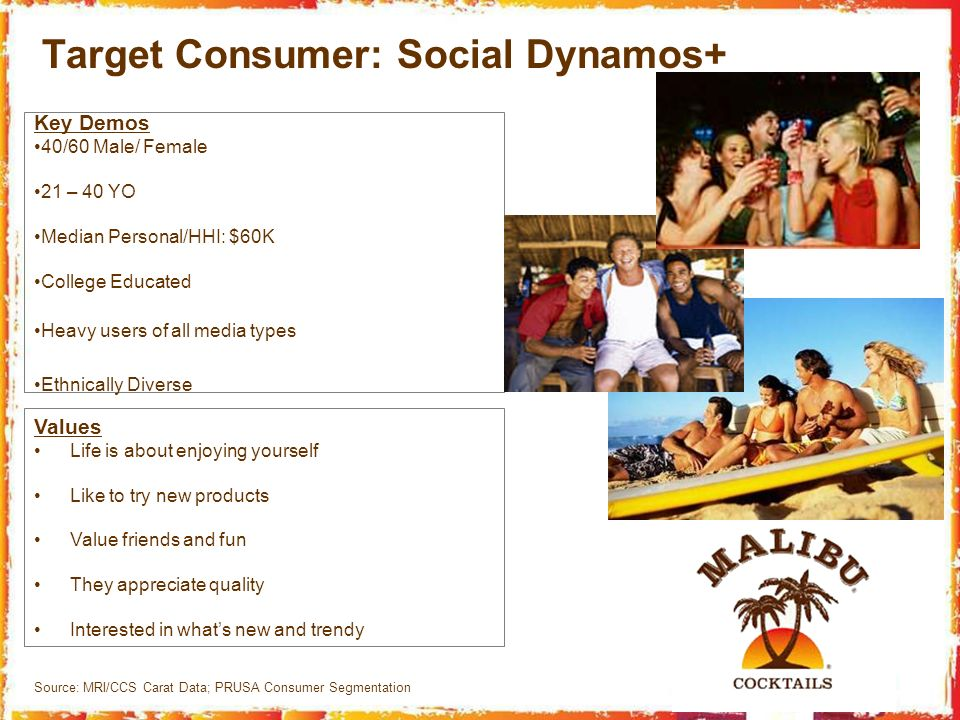 Target Consumer: Social Dynamos+