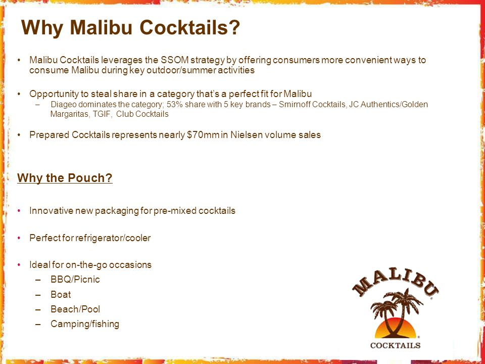 Why Malibu Cocktails Why the Pouch