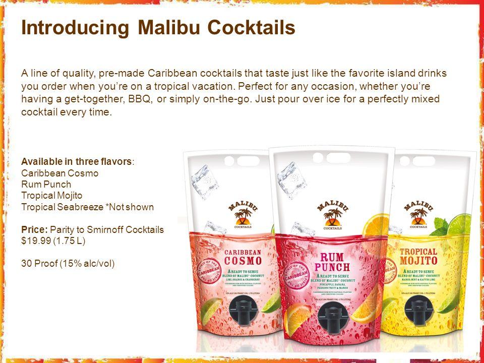 Introducing Malibu Cocktails