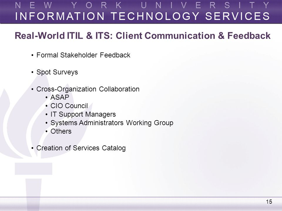 Real-World ITIL & ITS: Client Communication & Feedback