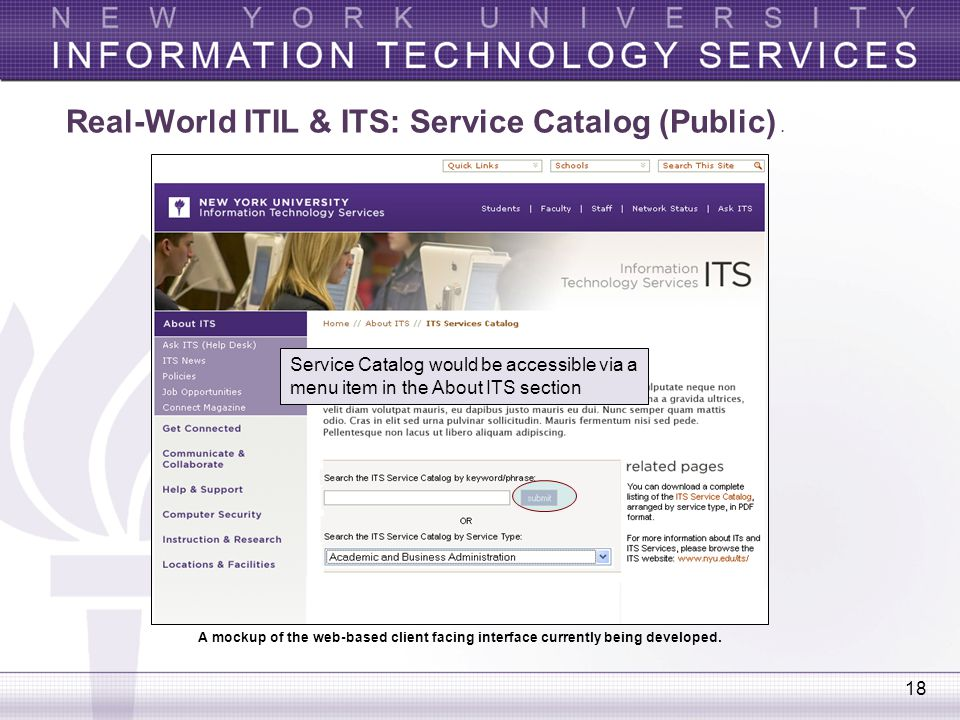 Real-World ITIL & ITS: Service Catalog (Public) .