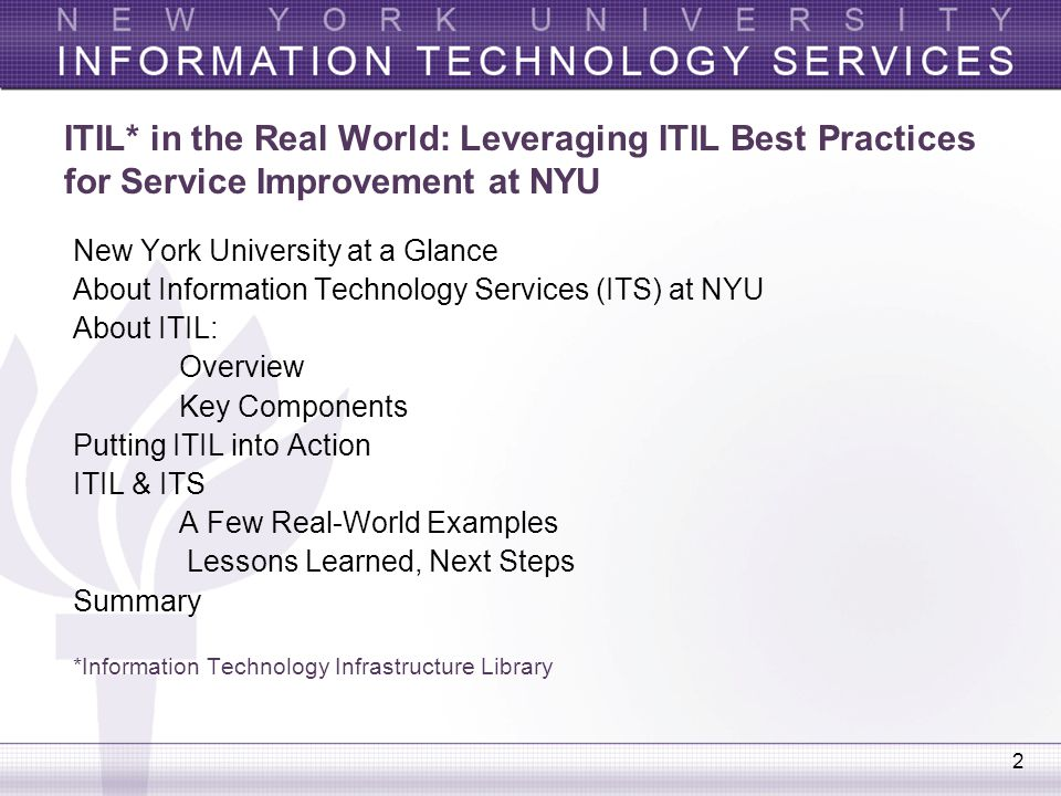 Leveraging ITIL Best Practices for - ppt video online download