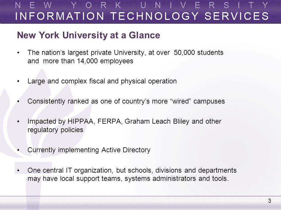New York University at a Glance
