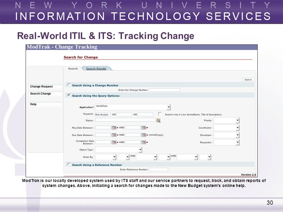 Real-World ITIL & ITS: Tracking Change